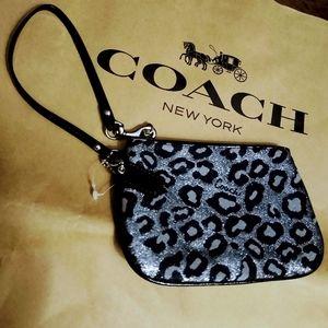 NWOT COACH cheetah/leopard Wristlet